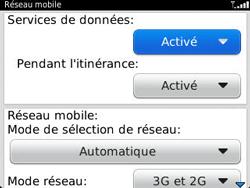 BlackBerry 9320 - Internet et connexion - Désactiver la connexion Internet - Étape 6