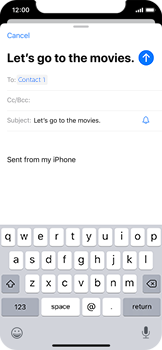 Apple iPhone 11 Pro - Email - Sending an email message - Step 7