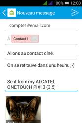 Alcatel Pixi 3 Dual Sim - E-mails - Envoyer un e-mail - Étape 17
