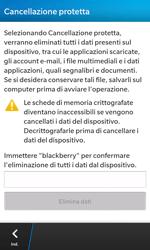 BlackBerry Z10 - Dispositivo - Ripristino delle impostazioni originali - Fase 7
