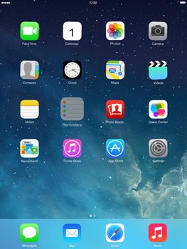 Apple iPad Retina iOS 7 - Getting started - Personalising your Start screen - Step 2