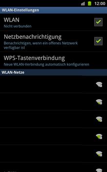 Samsung N7000 Galaxy Note - WLAN - Manuelle Konfiguration - Schritt 7