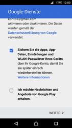 Sony E5603 Xperia M5 - Apps - Konto anlegen und einrichten - Schritt 17