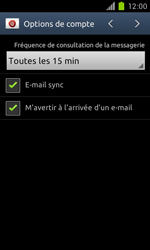 Samsung Galaxy S II - E-mail - Configuration manuelle - Étape 14