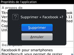 BlackBerry 9720 - Applications - Supprimer une application - Étape 9
