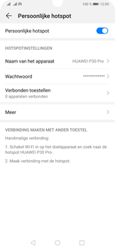 Huawei P30 Pro - Internet - Stel mobiele hotspot in - Stap 10