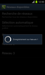 Samsung Galaxy S II - Réseau - Sélection manuelle du réseau - Étape 10