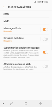 Samsung Galaxy S8 - Android Oreo - SMS - Configuration manuelle - Étape 7