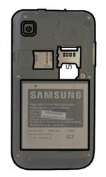 Samsung I9000 Galaxy S - SIM-Karte - Einlegen - Schritt 5