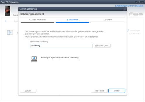 Sony Xperia Z1 Compact - Software - Eine Sicherungskopie des Geräts erstellen - Schritt 8