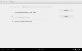 Sony Xperia Tablet Z LTE - E-Mail - Manuelle Konfiguration - Schritt 15