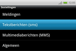 HTC A810e ChaCha - SMS - Handmatig instellen - Stap 5