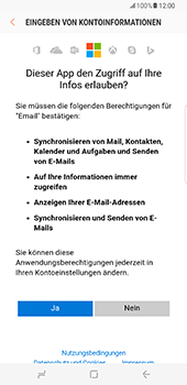 Samsung Galaxy S8 Plus - E-Mail - Konto einrichten (outlook) - 2 / 2
