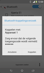 Sony D2005 Xperia E1 - Bluetooth - Koppelen met ander apparaat - Stap 7