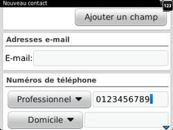 BlackBerry 9320 - Contact, Appels, SMS/MMS - Ajouter un contact - Étape 7
