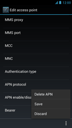 Alcatel One Touch Idol - MMS - Manual configuration - Step 15