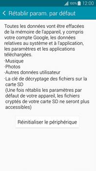 Samsung Galaxy Note 4 - Téléphone mobile - Réinitialisation de la configuration d