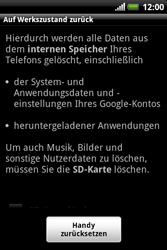 HTC Explorer - Fehlerbehebung - Handy zurücksetzen - 8 / 10