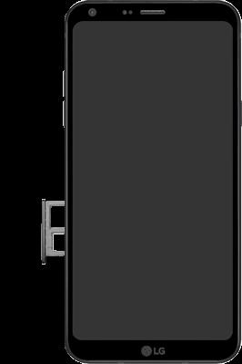 LG Q6 - SIM-Karte - Einlegen - 3 / 8