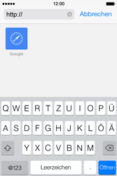 Apple iPhone 4S iOS 7 - Internet und Datenroaming - Verwenden des Internets - Schritt 12