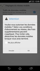 Sony Xperia Z2 - Internet et roaming de données - Comment vérifier que la connexion des données est activée - Étape 7