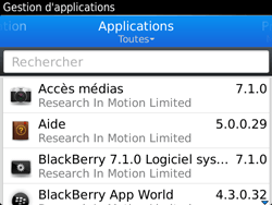 BlackBerry 9720 - Applications - Supprimer une application - Étape 6