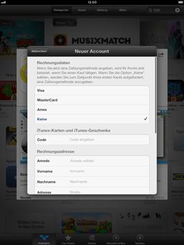 Apple iPad Retina - Apps - Einrichten des App Stores - Schritt 19