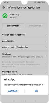 Huawei Y5 (2019) - Applications - Supprimer une application - Étape 7