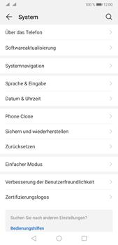Huawei P20 Pro - Android Pie - Gerät - Zurücksetzen auf die Werkseinstellungen - Schritt 4