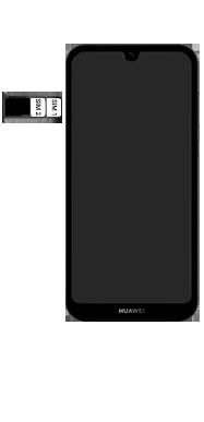 Huawei Y5 (2019) - Toestel - simkaart plaatsen - Stap 6