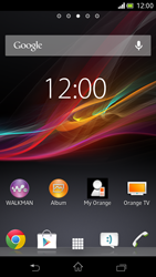 Sony Xperia V - Applications - Setting up the application store - Step 1
