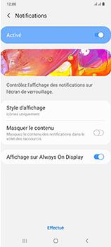 Samsung Galaxy A70 - Sécuriser votre mobile - Activer le code de verrouillage - Étape 11