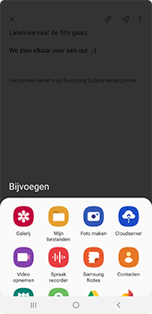 Samsung galaxy-a7-dual-sim-sm-a750fn-android-pie - E-mail - Hoe te versturen - Stap 13
