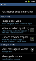 Samsung I8530 Galaxy Beam - Messagerie vocale - Configuration manuelle - Étape 5