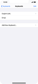Apple iPhone XS Max - iOS 14 - Getting started - How to add a keyboard language - Step 6