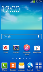 Samsung Galaxy Ace III - Getting started - Installing widgets and applications on your start screen - Step 1