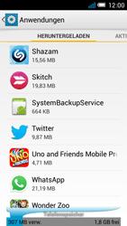 Alcatel One Touch Idol Mini - Apps - Eine App deinstallieren - Schritt 5