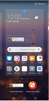 Huawei P20 Pro - Operazioni iniziali - Installazione di widget e applicazioni nella schermata iniziale - Fase 8