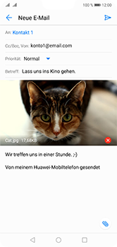 Huawei P20 Lite - E-Mail - E-Mail versenden - 15 / 17