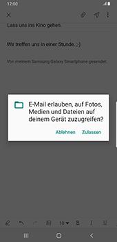 Samsung Galaxy S9 Plus - Android Pie - E-Mail - E-Mail versenden - Schritt 14