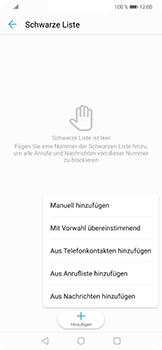 Huawei Nova 3 - Anrufe - Anrufe blockieren - Schritt 8