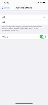 Apple iPhone XS Max - iOS 14 - Netzwerk - So aktivieren Sie eine 4G-Verbindung - Schritt 7