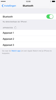 Apple Apple iPhone 6s Plus iOS 10 - Bluetooth - koppelen met ander apparaat - Stap 7
