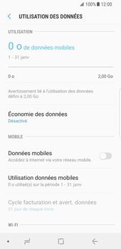Samsung Galaxy S8 - Android Oreo - Internet et roaming de données - Comment vérifier que la connexion des données est activée - Étape 6