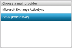 HTC A810e ChaCha - Email - Manual configuration POP3 with SMTP verification - Step 4