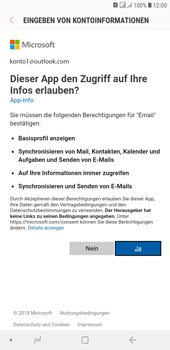 Samsung Galaxy J4+ - E-Mail - Konto einrichten (outlook) - 9 / 14