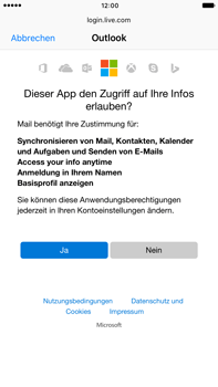 Apple iPhone 6s Plus - iOS 10 - E-Mail - Konto einrichten (outlook) - Schritt 7