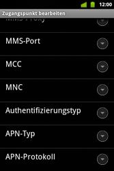 Alcatel OT-983 - Internet und Datenroaming - Manuelle Konfiguration - Schritt 12