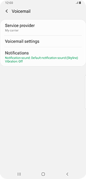 Samsung galaxy-s9-plus-android-pie - Voicemail - Manual configuration - Step 7
