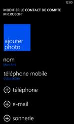 Nokia Lumia 1020 - Contact, Appels, SMS/MMS - Ajouter un contact - Étape 13